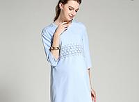 Голубое платье для будущих мам