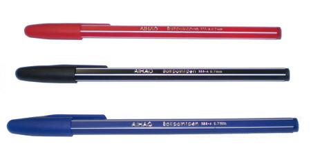 Ручка Ball pen одноразовая № АН-555 масляная (шариковая)