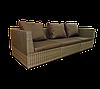 Плетеный диван трехместный Lagoon из ротанга искусственного коричневый