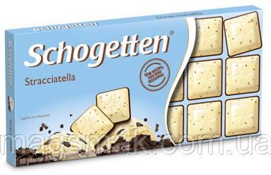 Шоколад Schogetten (Шогеттен) Белый с шоколадной крошкой , 100 г, фото 2
