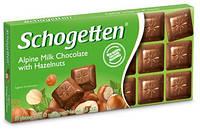 Шоколад Schogetten (Шогеттен) Молочный с орехом, 100 г