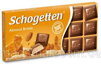 Шоколад Schogetten (Шогеттен) Молочный с миндалем, 100 г, фото 2