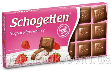 Шоколад Schogetten (Шогеттен) Йогурт - клубника, 100 г, фото 2