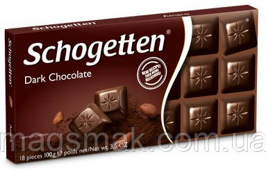 Шоколад Schogetten (Шогеттен) Черный, 100 г, фото 2