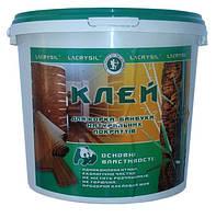 Lacrysil клей для пробковых, бамбуковых покрытий прозрачный со шпателем 4,5 кг, фото 1