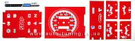 ProSpirit - Накладки на панель приборов для ВАЗ 2104-2105 (гибкая), Red & Blue, F-130