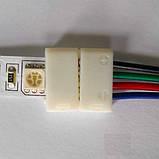 Коннектор для светодиодных лент OEM №9 10mm RGB 2joints wire (провод-2зажима), фото 4