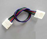 Коннектор для светодиодных лент OEM №9 10mm RGB 2joints wire (провод-2зажима), фото 5