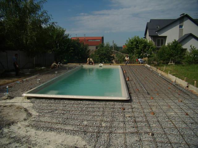 Устройство площадки басейна. 1