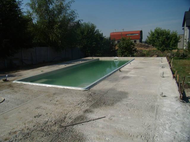 Устройство площадки басейна. 4