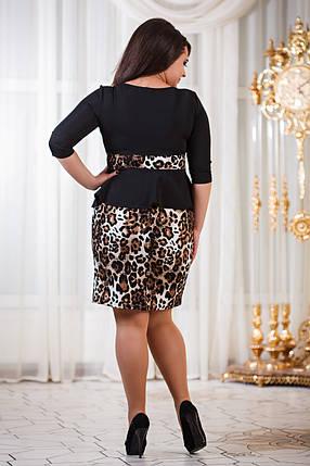 Д794/1  Платье с баской размеры 50-56 Лео, фото 2