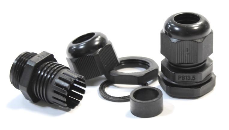 Кабельный сальник гермоввод IP54/68 для кабеля  для щитка с контрогайкой и резиновой прокладкой
