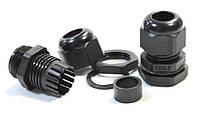Кабельный сальник герметичный ввод IP54/68 для кабеля гермоввод для щитка с контрогайкой и резиновой