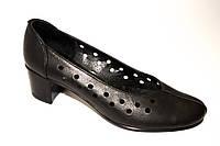 Туфли женские кожаные со сквозной перфорацией, фото 1