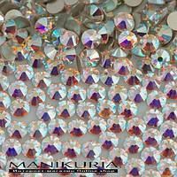 Стразы стекло, ss12 Crystal AB, аналог Swarovski