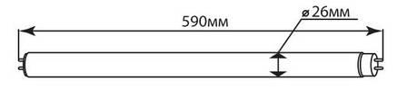Светодиодная лампа G13 Т8 10w 600мм Feron LB-213 6400K (Холодный), фото 2