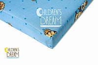 Матрас в детскую кроватку КПК (кокос-поролон-кокос) голубой 7см