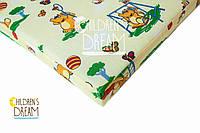 Матрас в детскую кроватку КПГ (кокос-поролон-гречка) желтый 7см