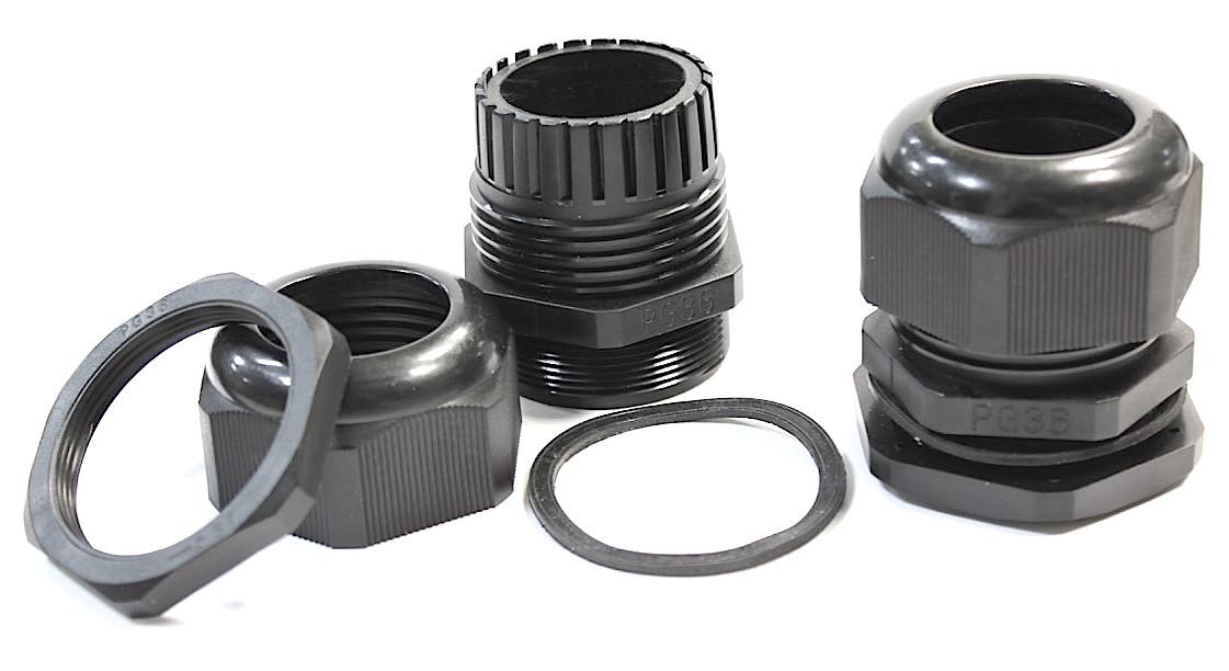 PG-36 кабельные гланды герметичный ввод сальник IP54I/P68 кабеля гермоввод для щитка с контргайкой прокладкой