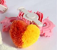 Приспособление для изготовления помпонов в форме сердца