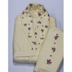 Халат махровый с полотенцем Begonville Ross розовый M