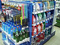 Новый стеллаж торговый с полками. Стеллажи для магазина при АЗС. Торговые стеллажи WIKO (ВИКО)