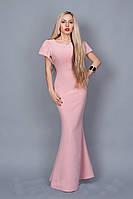 Элегантное женское  платье в пол 238-2 розовый