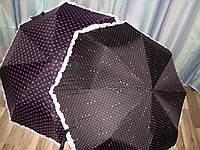 """Женский зонт полуавтомат в три сложения с системой Антиветер от фирмы """"STAR RAIN"""""""