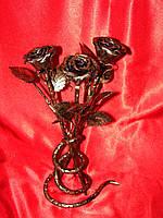 Кованая роза модель №10