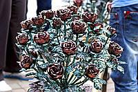 Кованая роза модель №113