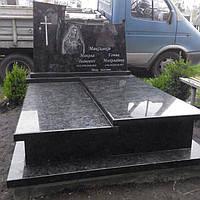 Подвійний пам'ятник гранітний 180200