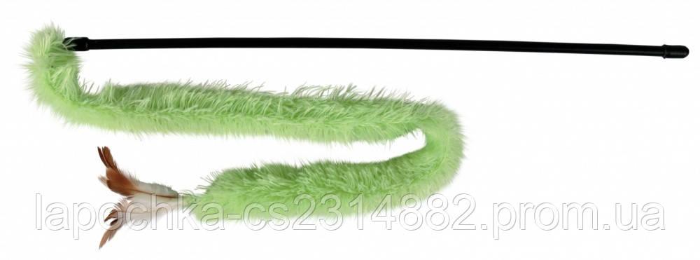 Игрушка для кошек Trixie Палочка с лентой и перьями 48 см, плюш