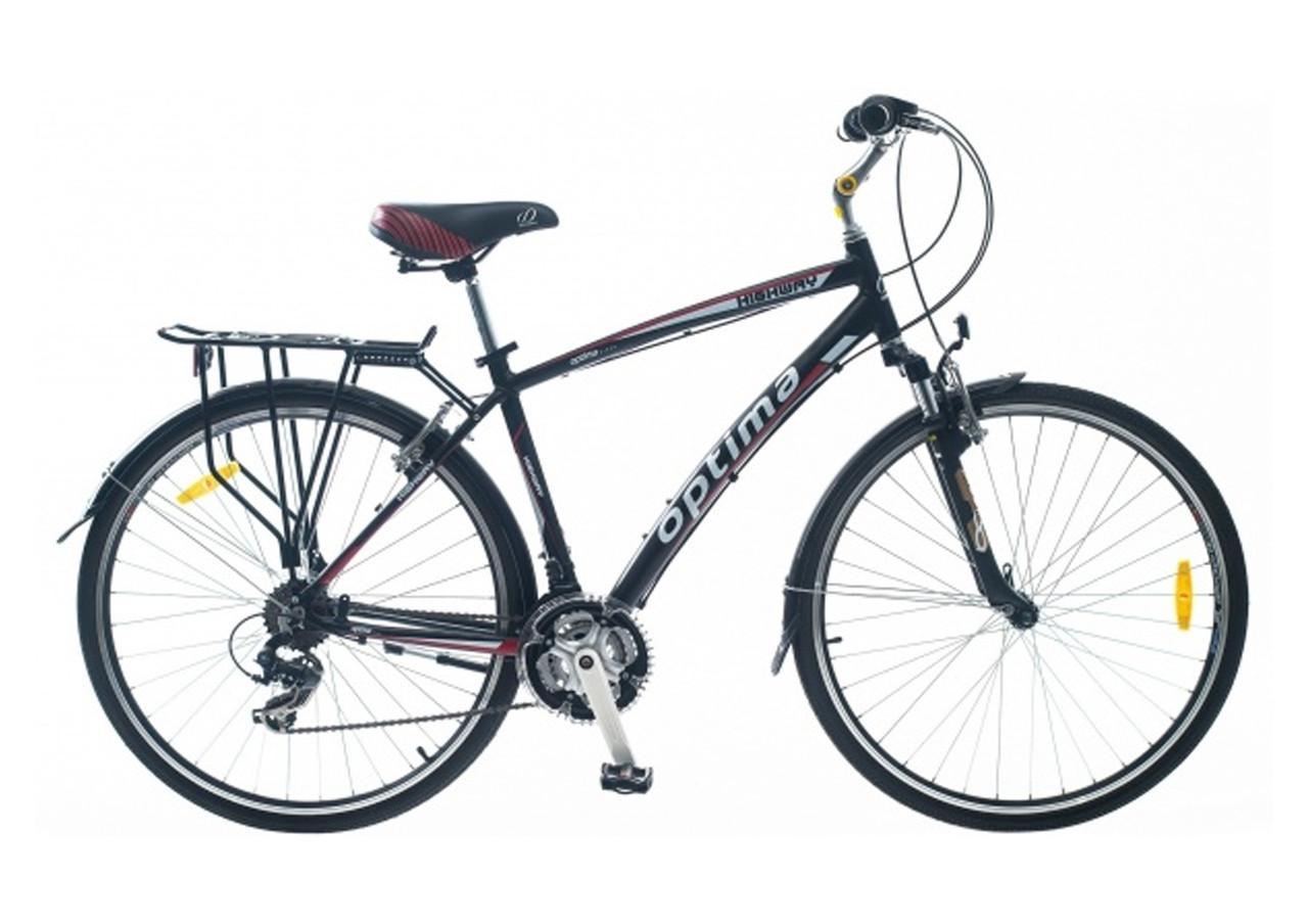 """Алюминиевый велосипед Optima HIGHWAY 28"""" с багажником"""