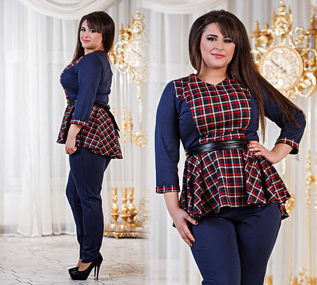 Д1040 10 Женский костюм баска + брюки размеры 50-56, фото 2