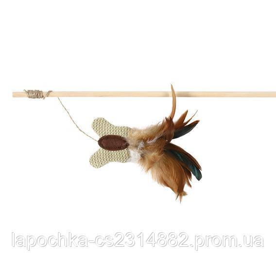 Игрушка для кошек Trixie Удочка с игрушкой и перьями 45 см