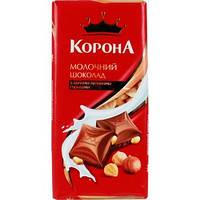 "Шоколад ""Корона"" молочный с целым орехом 90г"