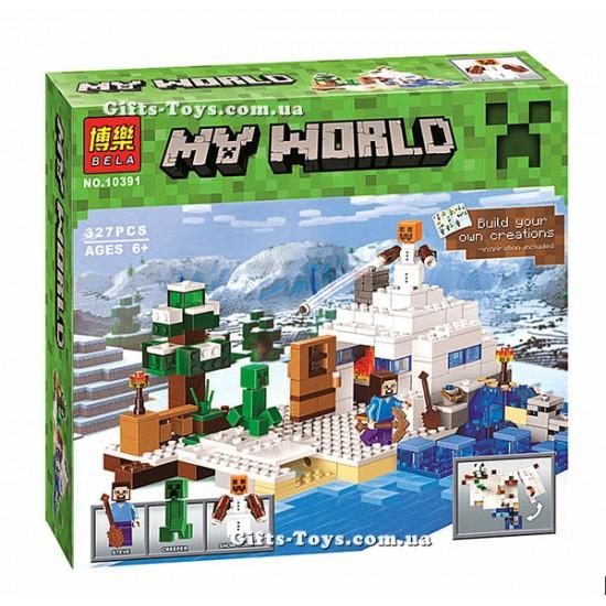 Конструктор Bela Minecraft 10391 Снежное укрытие