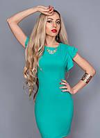 Женское коктельное платье 241-3 бирюзовый