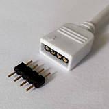 Коннектор для светодиодных лент OEM №15 Коннектор провод 4pin+4pin соединитель  (RGB), 15см, фото 2