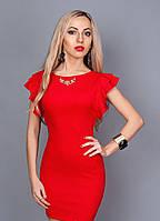 Женское коктельное платье 241-2 красный