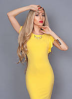 Женское коктельное платье 241-4 желтый