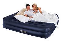 Надувной матрас кровать 66702 Intex (152х203х43 см) с насосом