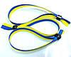 Тканевый  контрольный браслет WOVEN-15-braid, ширина 1,5 см, двуколор флаг Украины, фото 6