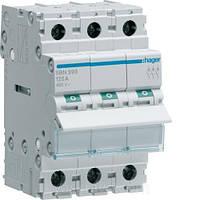 Выключатель нагрузки Hager 3-полюсный 400В/90А SBN390