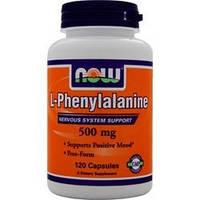 Л-фенилаланин / NOW - L-Phenylalanine 500mg (120 caps)