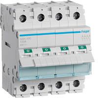 Выключатель нагрузки Hager 4-полюсный 400В/100А SBN490