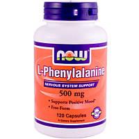 NOW_L-Phenylalanine 500 мг - 120 веган кап / Л-фенилаланин, фото 1