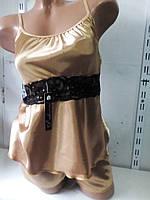 Женский молодежный атласный комплект шорты