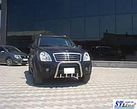 SsangYong Rexton II 2008+ и 2013+ гг. Кенгурятник QT006 (нерж)