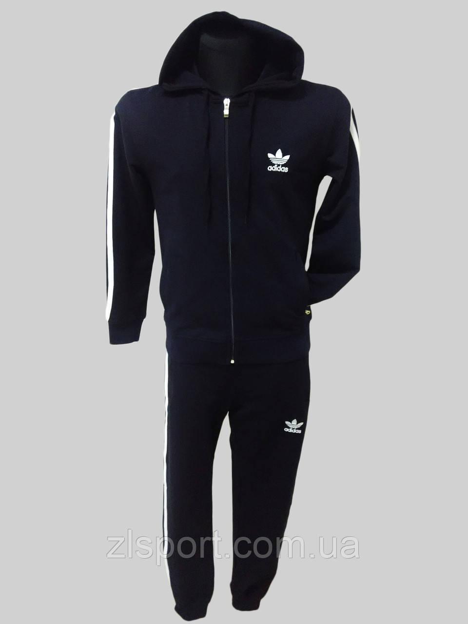 c6e29fea Трикотажный спортивный костюм мужской Adidas с капюшоном Турция - Интернет  магазин спортивной одежды